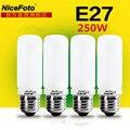 1 unids Nicefoto 250 W Flash de Estudio de iluminación bombilla E27 Lámpara de Modelado de montaje 220 v para luz de Flash softbox fotográfico