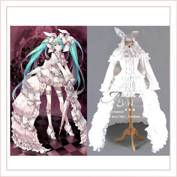 Vocaloid 2 Hatsune Miku Dress Cosplay Costume Tailor-made