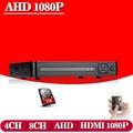 AHD CCTV DVR 8CH ONVIF ip camera recorder H.264 P2P AHD DVR for AHD-NH 1080P camera Network Hybrid AHDVR 1080P cctv recorder
