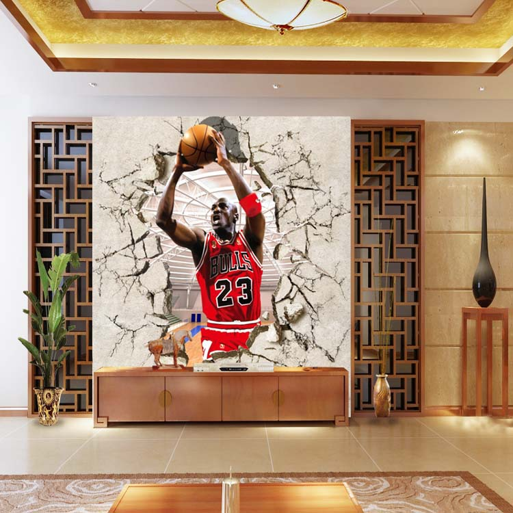 ... basketball star Michael Jordan gym entrance background wallpaper bedroom  large mural wallpaper mural ...