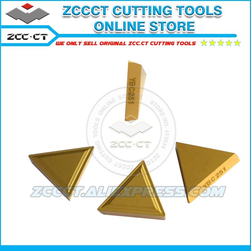 10pcs Zcc Inserts Tpmr160304 Ybc251 Zccct Cnc Carbide Triangle