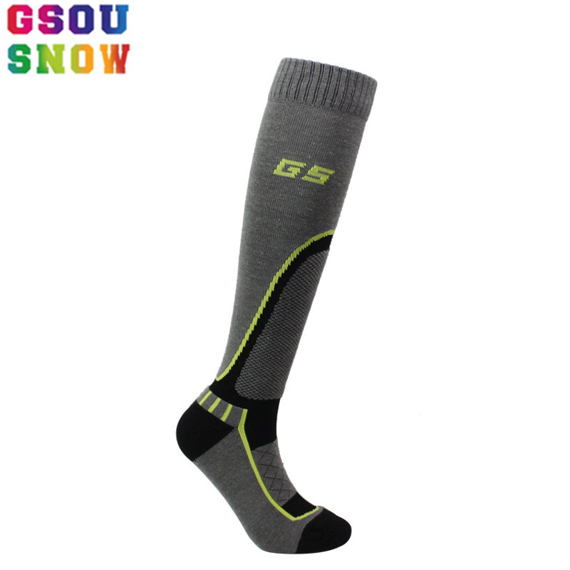 GSOU SNOW Winter Mens Long tube fleece Ski Socks Thermal Outdoor ride Cycling football running Snowboarding Camping Sport Socks