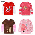 Girls T-shirt Kids Tees Baby girl shirts Long Sleeve tees 100% Cotton Top Quality children clothes cartoon baby clothing