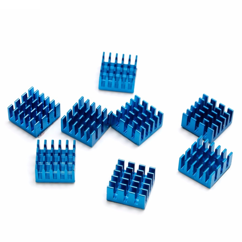 Aluminium shim pad Thermal VGA RAM Heat Sinks Spreader Memory Cooler Cooling For DDR 15mm*15mm*8mm #H029# 2 x b ddr ddr2 ram memory cooler heat spreader heatsink z09 drop ship