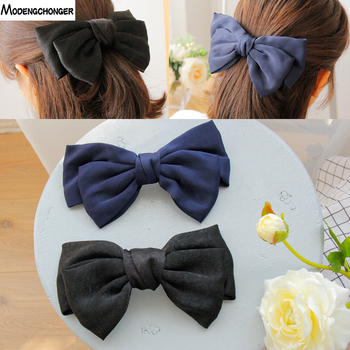 Hot Selling Big Large Barrette Bow Hairpin For Women Girls Hairgrips Satin Hair Bow Ladies Hair Clip New Cute Hair Accessories ubuhle fashion women full pearl hair clip girls hair barrette hairpin hair elegant design sweet hair jewelry accessories 2019
