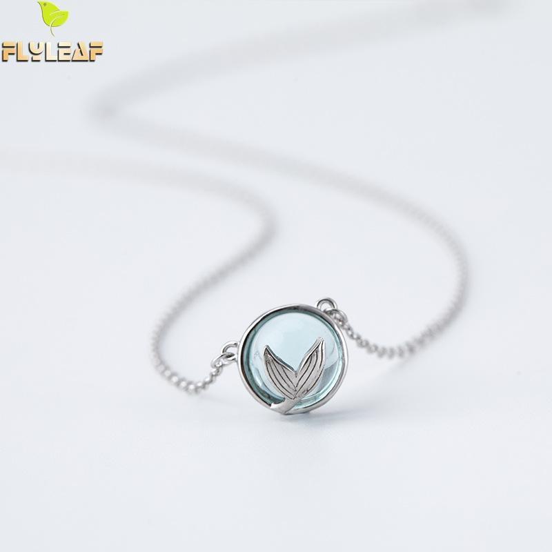 682d490b203c ... la piedra lunar de cola de sirena collares y colgantes para las mujeres  de alta calidad 100% de Plata de Ley 925 moda joyería Colar en  Aliexpress.com ...