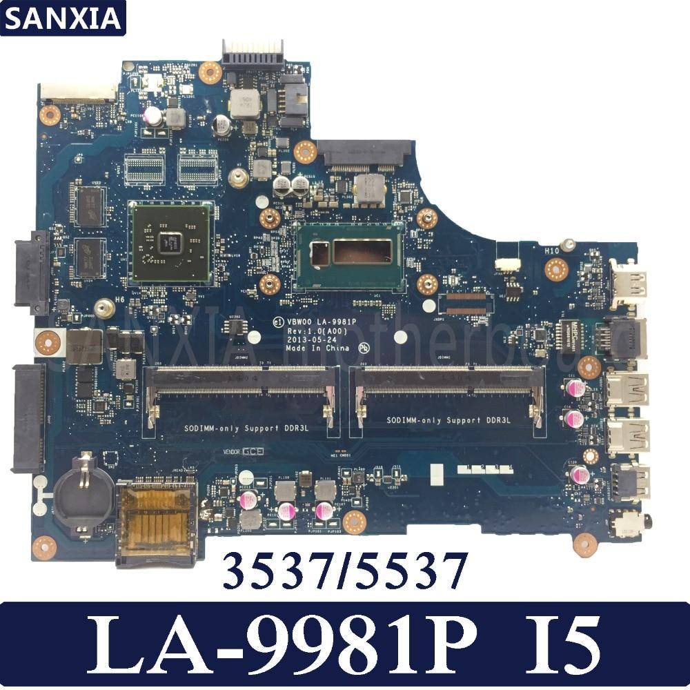 KEFU VBW00 LA-9981P ordenador portátil placa madre para Dell 15R 3537 de prueba 5537 placa base original de I5 CPU