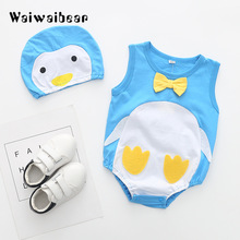 Waiwaibear Baby Rompers Summer Sleeveless Newborn Clothes Cotton  Jumpsuits +Hats 2PCS For Boys And Girls