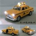 Lada samara классический миниатюрный сплава желтого такси автомобиля со звуком света авто модель 1:32 мини газ ваз oyuncak car kid Рождественский подарок