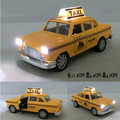 lada samara classic miniature alloy yellow taxi car with sound light auto model 1:32 mini gaz vaz oyuncak car kid Christmas gift