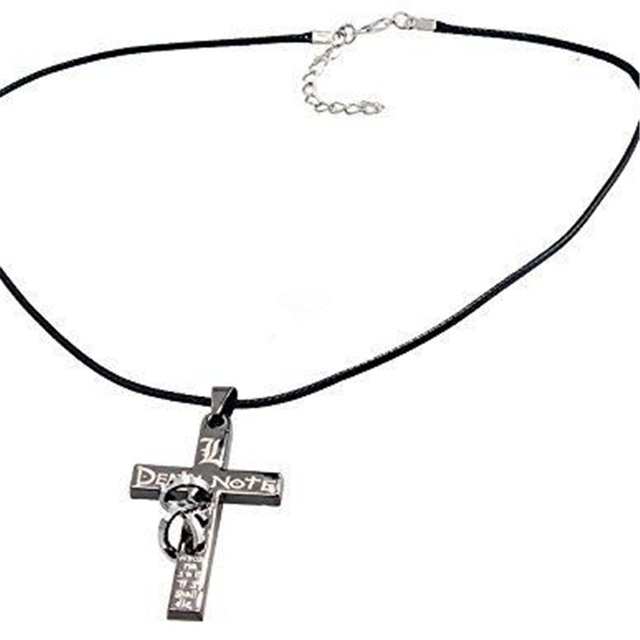 Anime Death Note Letter L Cross Metal Pendant Necklace
