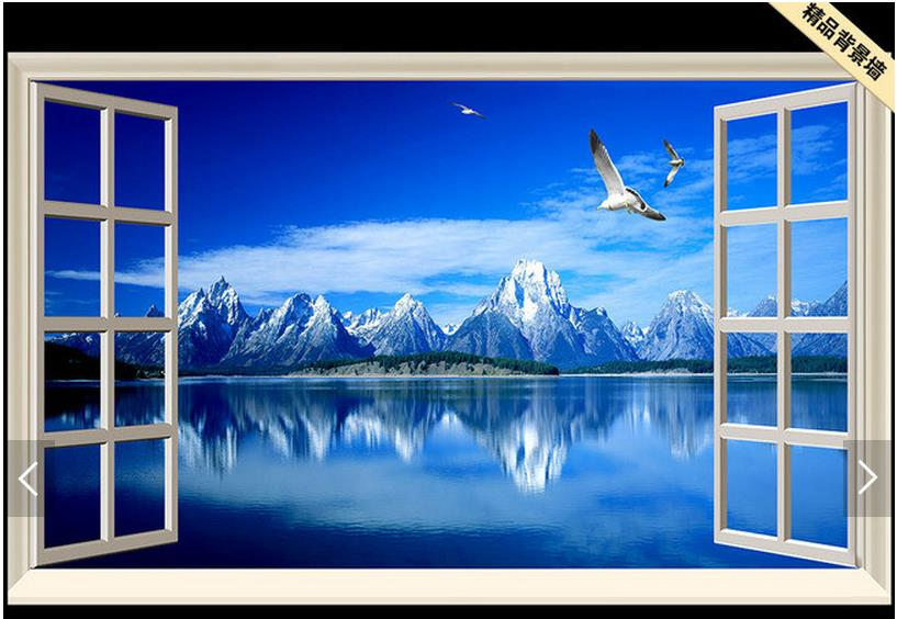 Aliexpress.com : Buy Customized 3d Wallpaper 3d Tv Wall Paper Murals  Scenery Outside The Window 3 D TV Setting Wall Living Room Photo Wallpaper  From ...
