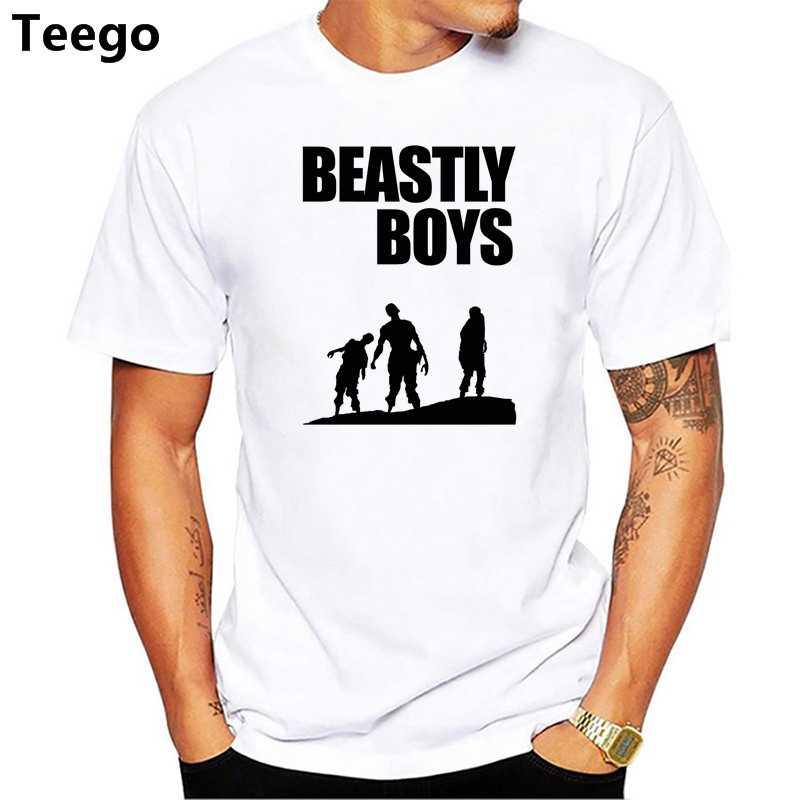 399953d4 beastie boys t shirt men Summer print T Shirt boy short sleeve with white  color Fashion