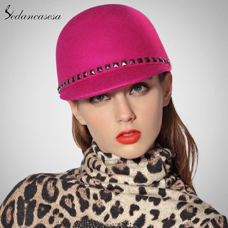 d4da33eb3df99 Mujeres y Niños de lana de Australia Cloche de fieltro sombrero púrpura chicas  sombrero gorra de boina sombrero de invierno FW040009