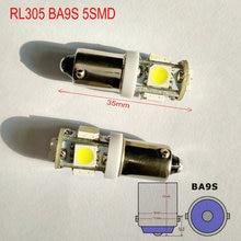 Free shipping (50pcs/lot)BA9S 5SMD miniature led light  53 57 replacement light  Wholesale LED auto indication light bulbs RL305