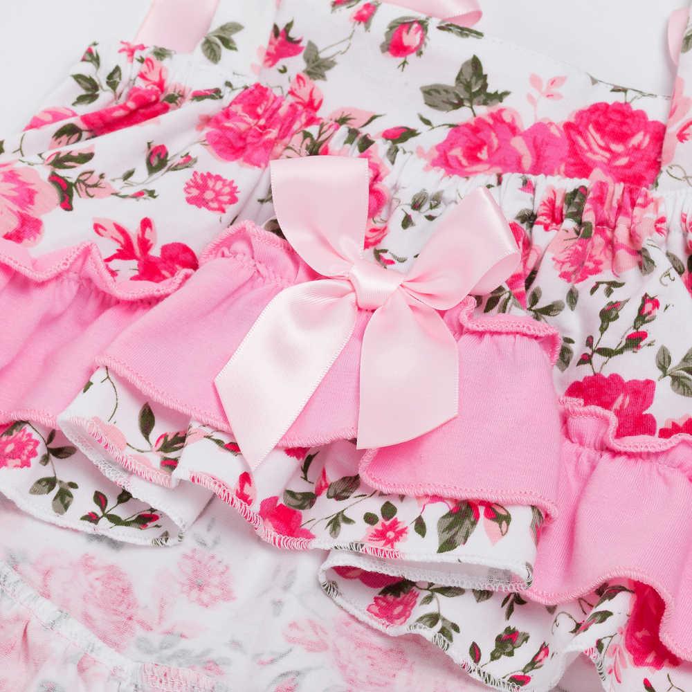Летний стильный детский топ с розами, комплект одежды для маленьких девочек, детские манжеты, шаровары, повязка на голову, комплекты одежды для новорожденных девочек