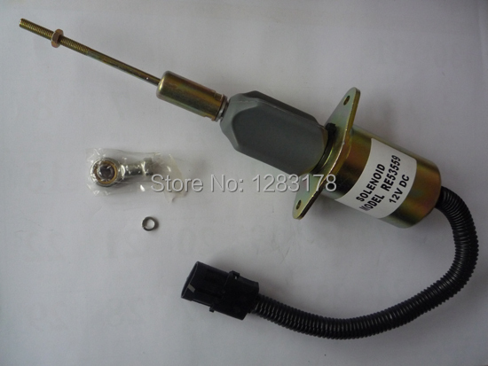 Deere Electric Fuel Shut off run Solenoid RE53559 (12V / 24V) cutoff stop shutdown solenoid