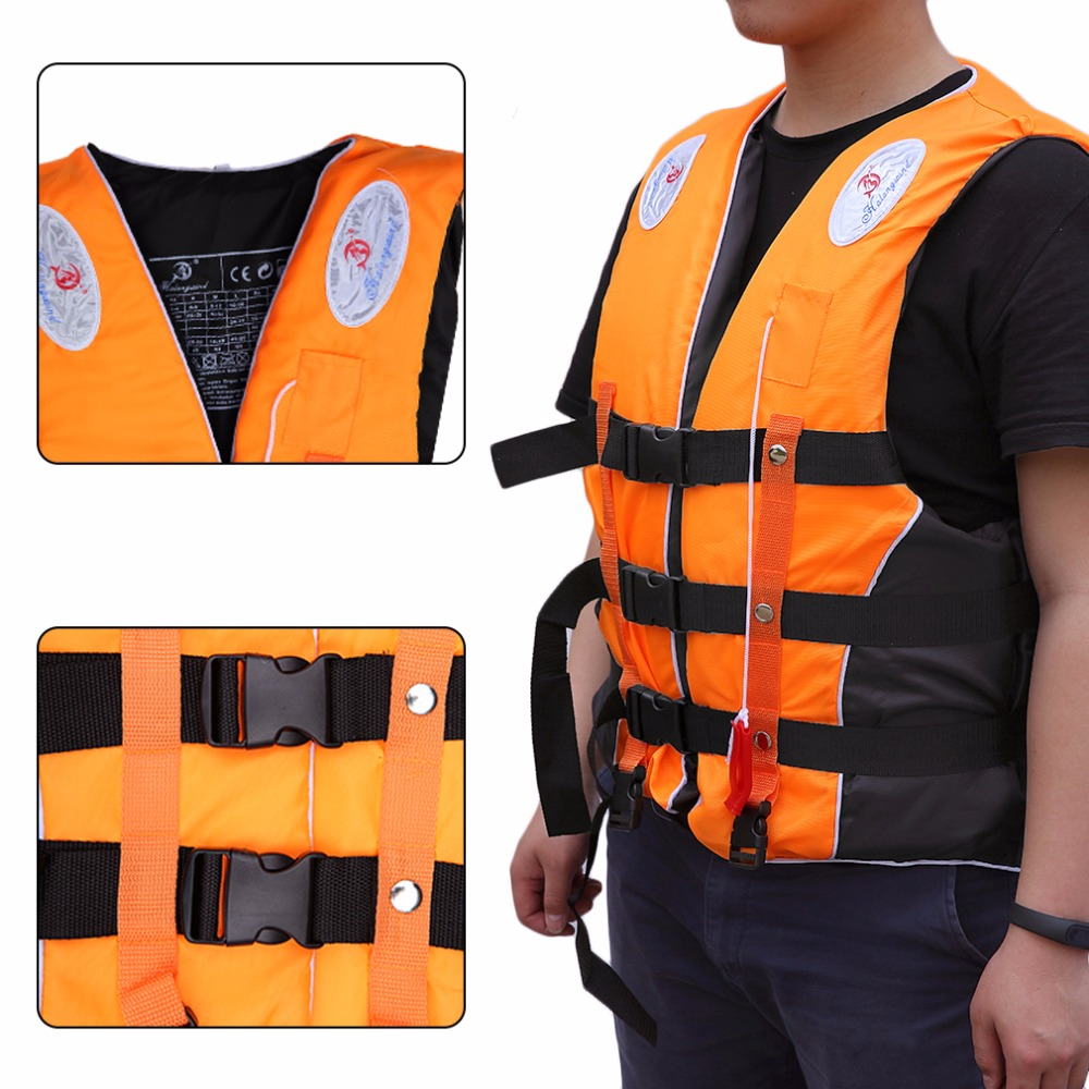 Professional Men Women Life Jacket Swimwear Polyester Vest Colete Water  Sports Swimming Drifting Surfing First Aid Safe Jacket