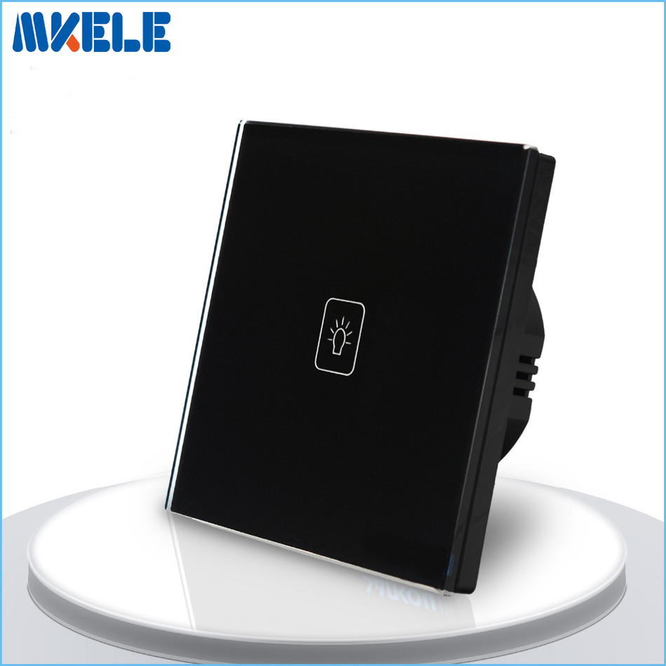 EU Standard Touch Switch Black Crystal Glass panel 1 Gang 1 Way Light Switch Touch Screen wall switch wall socket for lamp us standard touch switch black crystal glass panel 1 gang 1 way light switch touch screen wall switch wall socket for lamp