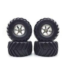 4 UNIDS Alta Calidad Llanta Conjunto de Neumáticos para 1:10 RC Monstruo camiones traxxas tamiya kyosho hpi hsp 1/10 rc car neumáticos partes