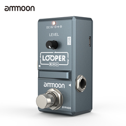 ammoon AP-09 Loop Guitar Pedal Looper Electric Guitar Effect Pedal True Bypass Unlimited Overdubs 10 Minutes Recording
