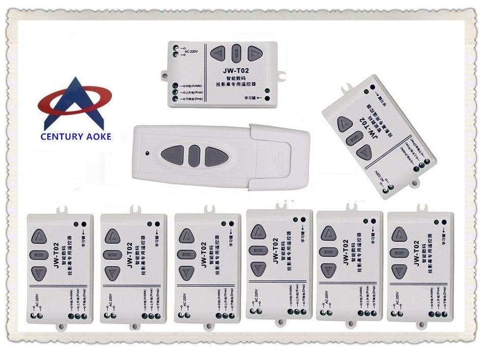 Système intelligent de commutateur de télécommande sans fil de RF de digital de CENTURY packet AC110V 220 V 240 V pour l'écran de projection 8 x récepteurs