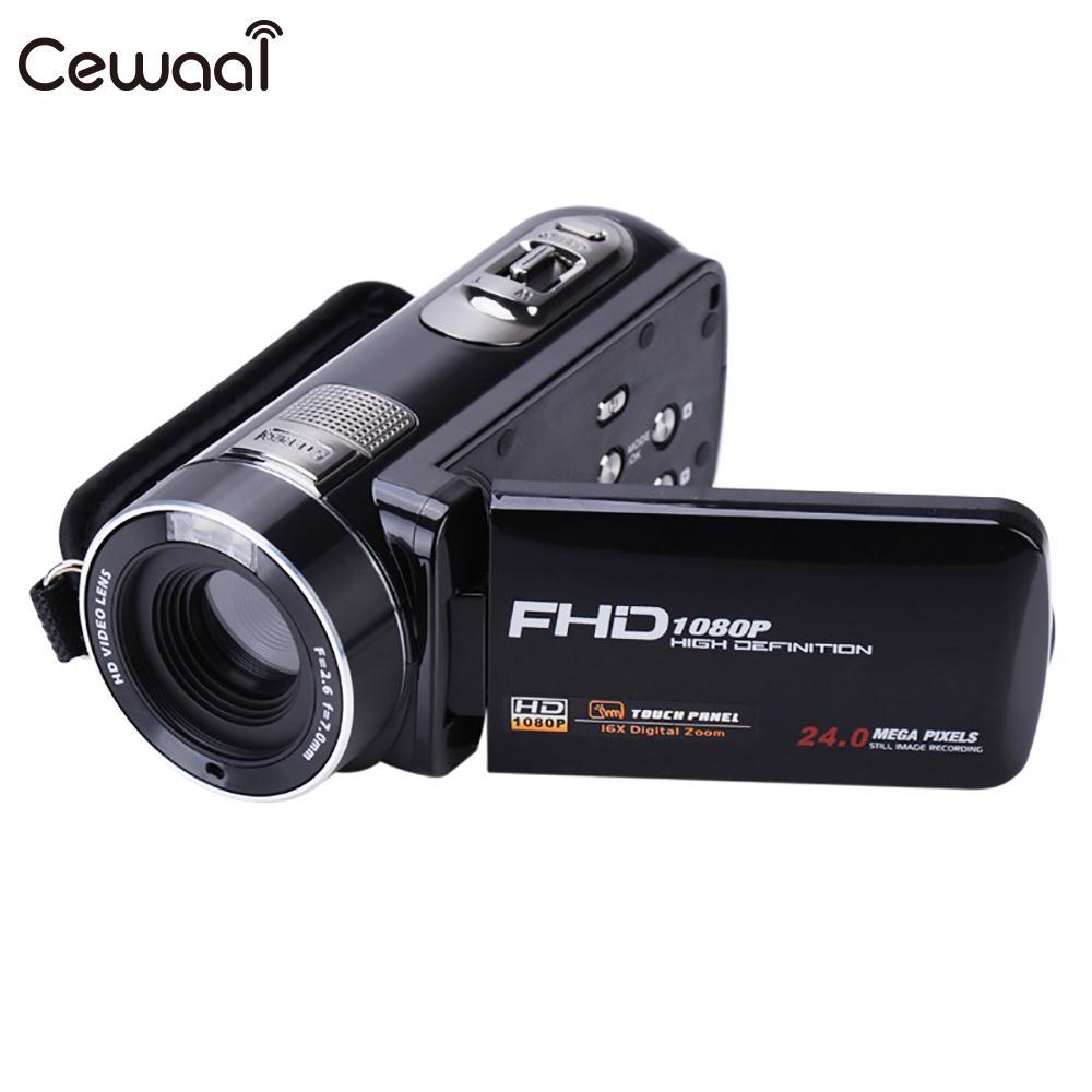 Cewaal 3.0 TFT-LCD Control Lens Digital Camcorder Shooting DV Camcorder Premium Face Detection Video Camera DVR