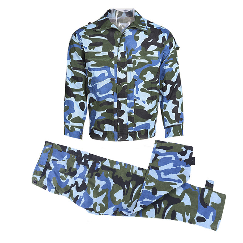 New military training safety protective clothing military camouflage breathable fiber training suits outdoor military uniforms