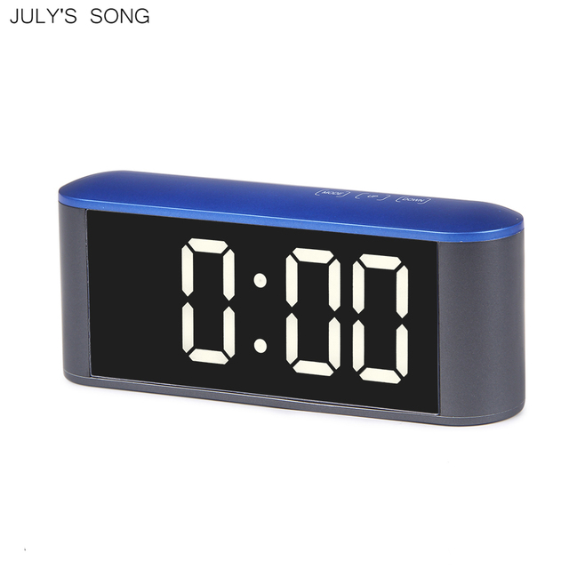 JULY'S SONG Digital Touch LED Clock Mirror Alarm Snooze Function Watch Electronic Table Clocks Thermometer Desktop Night Mode