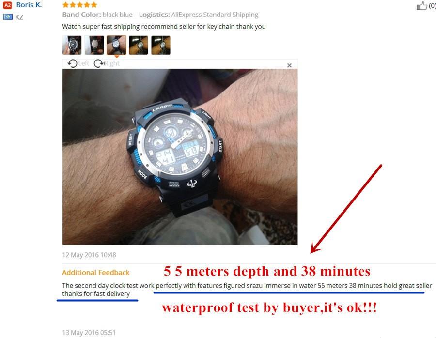 2016 Новый Модный бренд Часы Мужчины Стиль Водонепроницаемый Спорт Военные Часы С Ударной мужская Люкс Аналоговый СВЕТОДИОДНЫЙ Кварцевые Цифровые часы