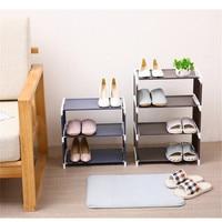 Organizador de rack de sapato 4 camadas estande rack prateleiras sólida sala moderna 3 multi camadas sapato sala de armazenamento multi funcional quarto|Sapateiras| |  -