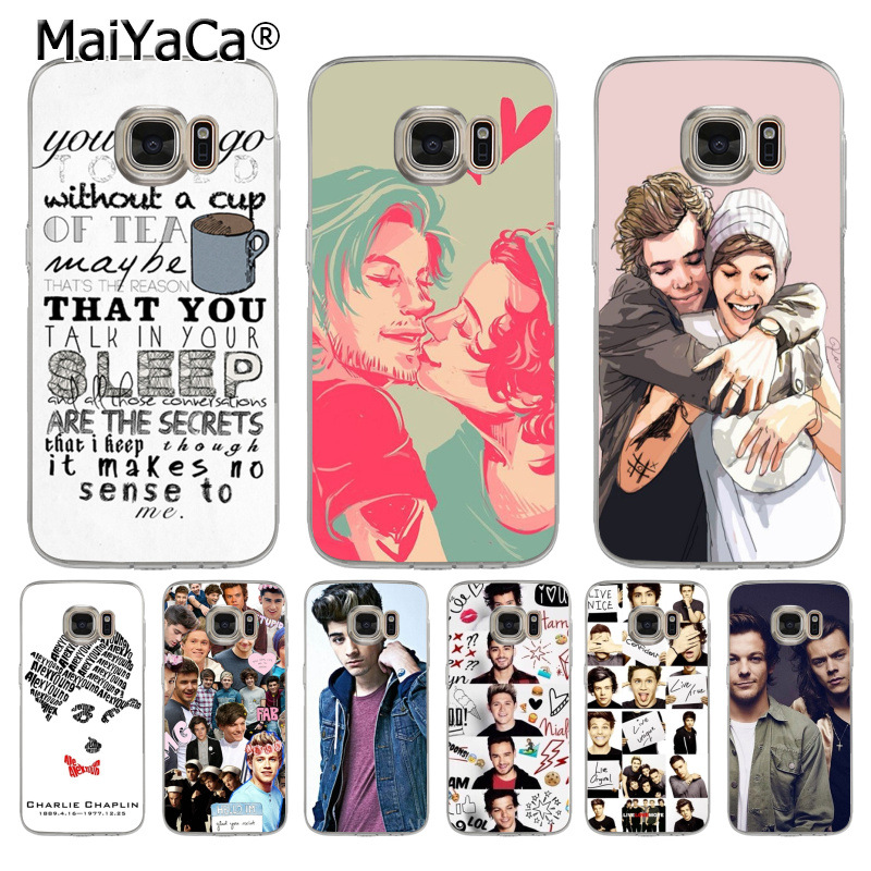 MaiYaCa One Direction <font><b>Harry</b></font> <font><b>Styles</b></font> and Louis Tomlins Diy Luxury <font><b>phone</b></font> <font><b>Case</b></font> for <font><b>samsung</b></font> galaxy s7 s6 edge plus <font><b>s5</b></font> s9 s8 plus <font><b>case</b></font> image