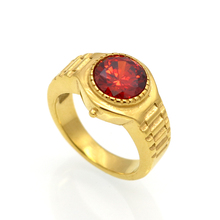 fashion watch shape gold/silver color crystal ring size 6 -10 clear zircon statement rings women