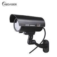 WOASER Dummy Security Camera Fake Camera Waterproof Outdoor For Surveillance LED Bullet Emulational Camera CCTV