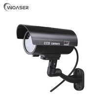 WOASER Dummy Security Camera Fake Camera Waterproof Outdoor For Surveillance LED Bullet Emulational Camera CCTV