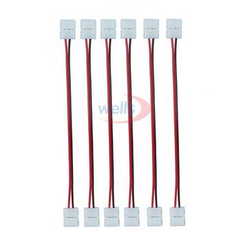 50 sztuk 100 sztuk 2Pin 3Pin 4Pin 5Pin złącze podwójne przewód łączący do 8mm 10mm 12mm 3528 5050 WS2811 RGB dioda LED RGBW taśmy światła tanie i dobre opinie YJBCo CN (pochodzenie) Rohs 2pin 3pin 4pin 5pin connector