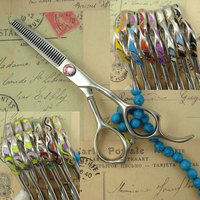 30 teeth Japanese 440C professional high quality colorful hair thinning scissors 5.5
