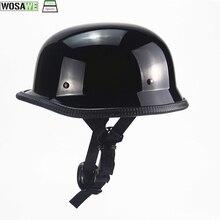 Casco de bicicleta Mtb, casco antiguo Retro alemán de media cara, casco de seguridad para hombre, casco de protección para moto, casco DOT aprobado
