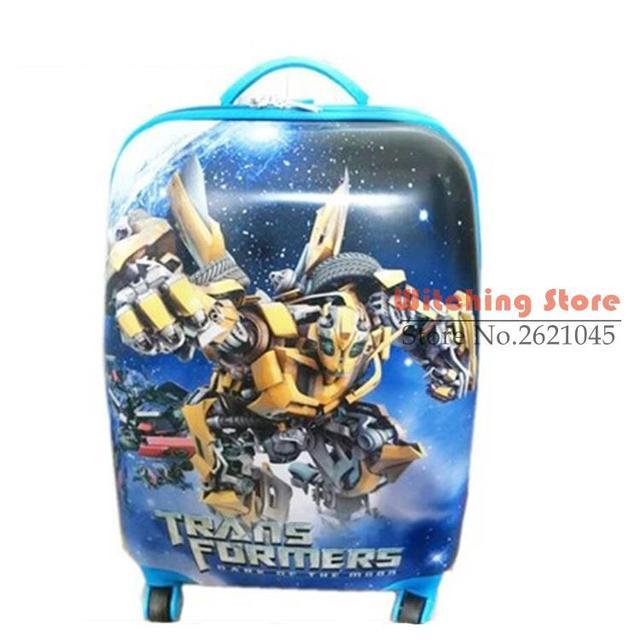16 PULGADAS 161819 # Transformers caja de equipaje ruedas universales bolsa de viaje ABS niños macho y hembra chasis bordo # EC ENVÍO GRATIS