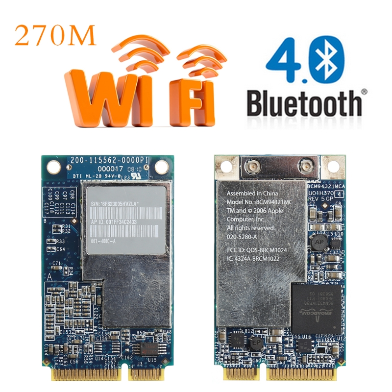 Networking 2,4g 5g 270 Mt Dual Band Lan Wifi Wireless Mini Pci-e Wlan-karte Für Apple Laptop Bcm94321mc