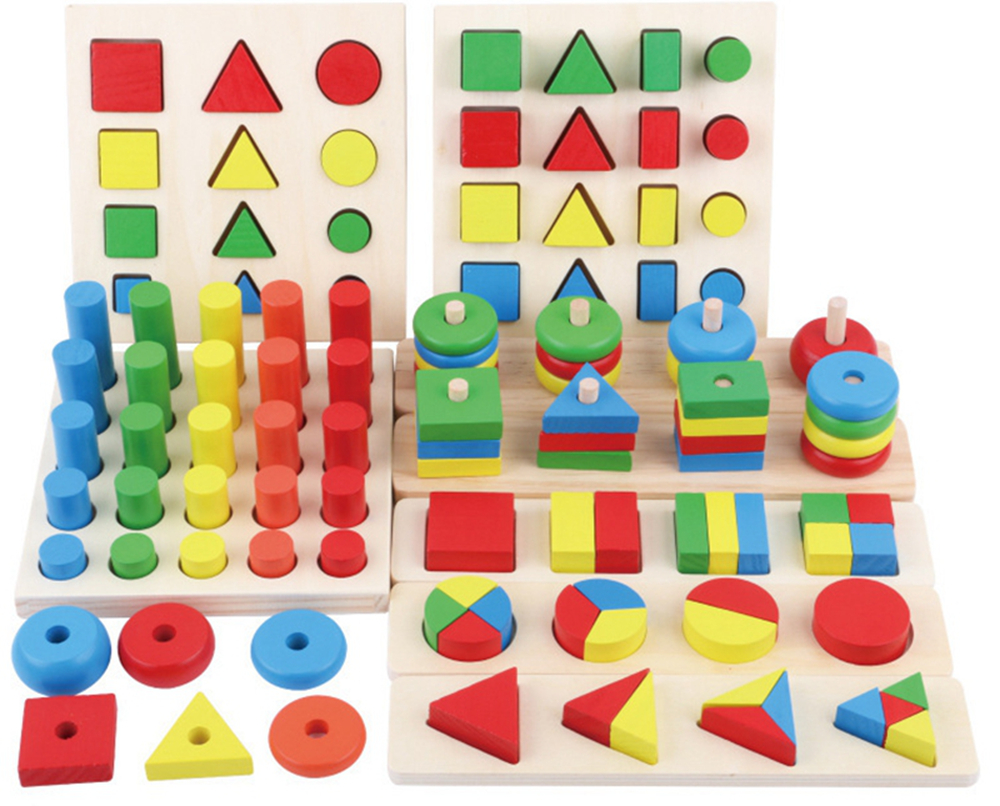 8pcs Montessori Materials Cylinder Educational Toy Block Wood Teaching Aids Geometry Shape Baby Learning Portfolio Combination8pcs Montessori Materials Cylinder Educational Toy Block Wood Teaching Aids Geometry Shape Baby Learning Portfolio Combination