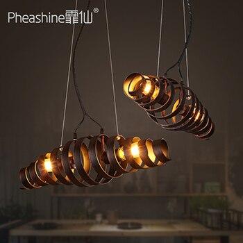 Loft Stile Industriale Di Ferro Nero Ruotare Luce Del Pendente Ristorante Bar Art Ristorante Bar Droplight Lampade