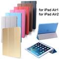 Ultra slim tablet designer couro pu inteligente case capa para apple ipad ar 1/Ar 2 Ímã Capa Protetor para Air1 ou Air2