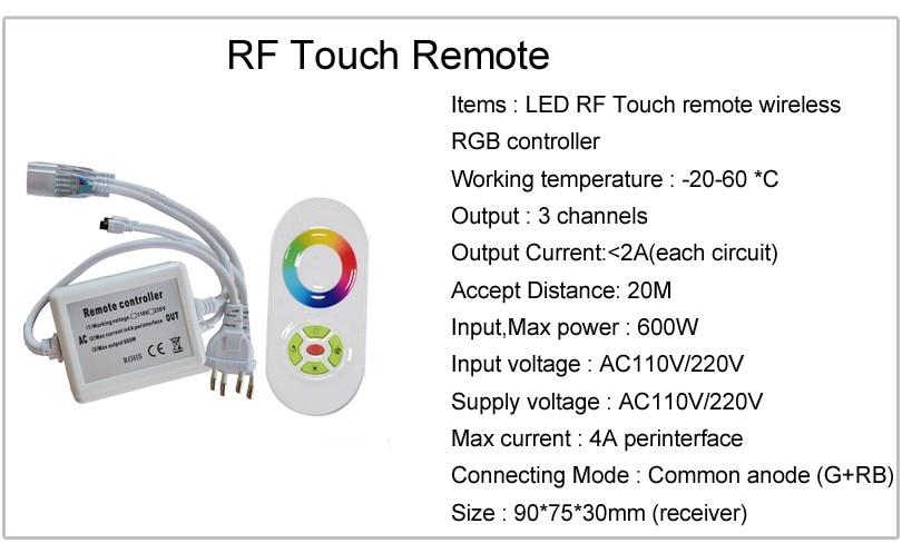 220 V 110 V Светодиодные ленты 5050 50 м 100 IP67 Водонепроницаемый RGB двойной Цвет веревка для наружного освещения с радиочастотным пультом дистанционного управления - 6