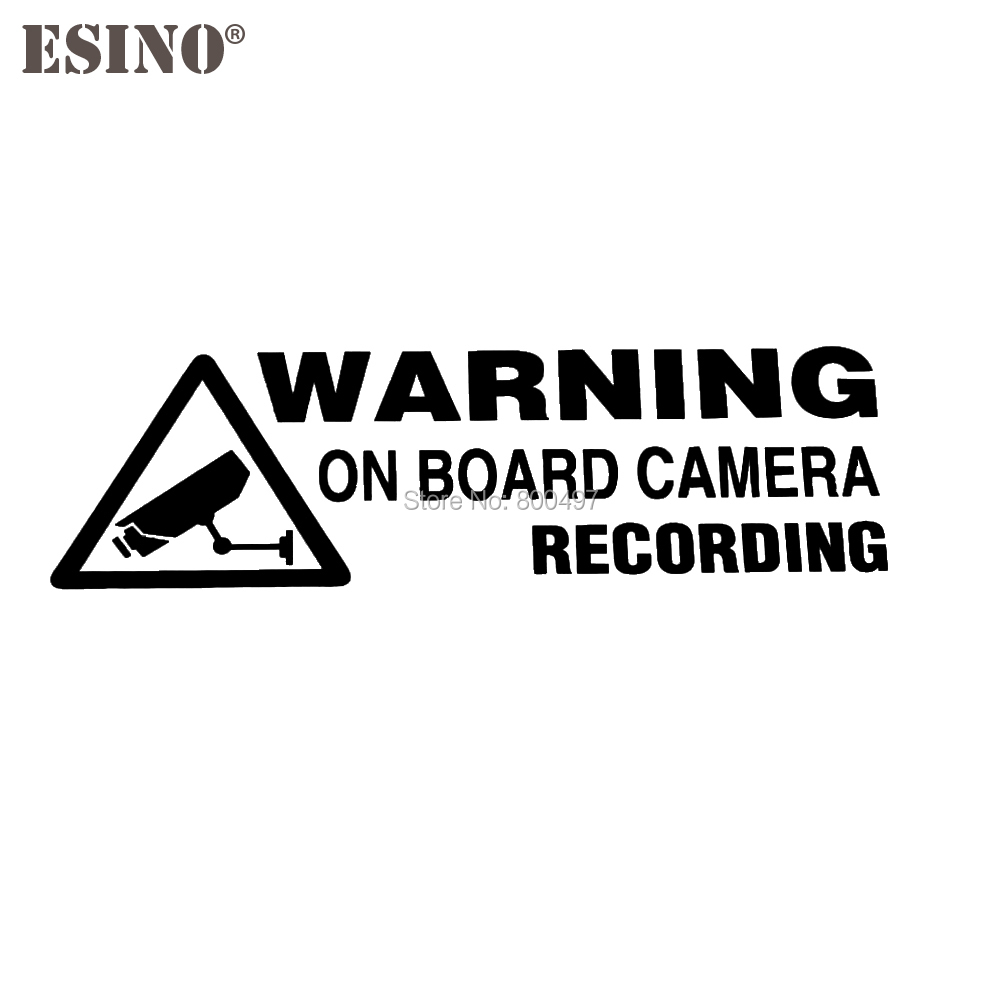 Car Styling New Fashion Style Warning Camera Recording Car Accessory Funny Creative Reflective Stickers Car Whole Body Decal