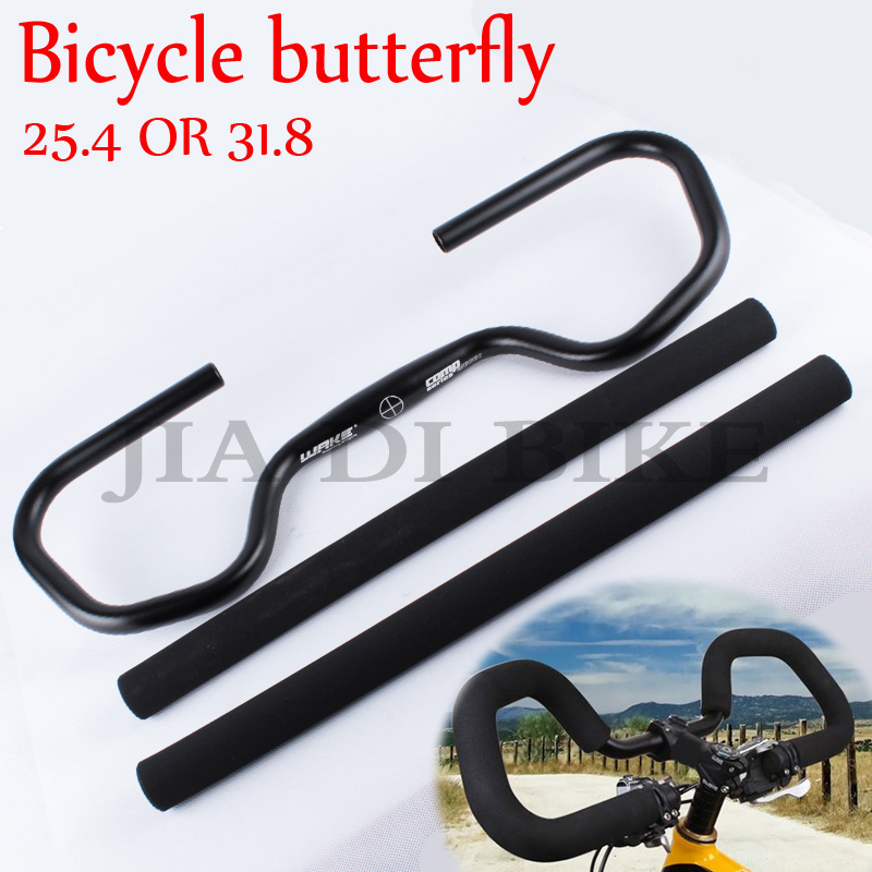 Bicycle Handlebar Mountain Bike Road bike Fixed Gear Refit Bicycle handlebar butterfly Aluminum 25.4 / 31.8 * 595MM Handlebar mountain bike carbon handlebar road bike handlebar bicycle handlebar bicycle handlebar bicycle accessories