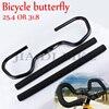 Bicycle Handlebar Mountain Bike Road Bike Fixed Gear Refit Bicycle Handlebar Butterfly Aluminum 25 4 31