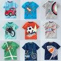V-tree bebê verão meninos t shirt de algodão camisa de manga curta t cobre T Para O Menino Crianças Tops Crianças Roupa Do Bebê 2-8 Anos