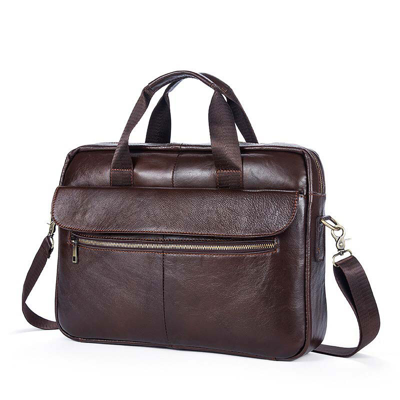 Men Casual Briefcase Bag Genuine Leather Laptop Bag Cowhide Shoulder Messenger Bags Business Computer Handbag Male Travel Bag 2018 men casual briefcase bag genuine leather laptop bag shoulder messenger bags business computer handbag male bag brown 1117