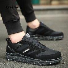Cresfimix male fashion comfortable autumn & winter plus size all black sheos men cool street shoes man's casual 2018 shoes a2737
